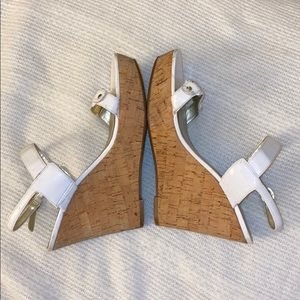 White guess wedge sandals